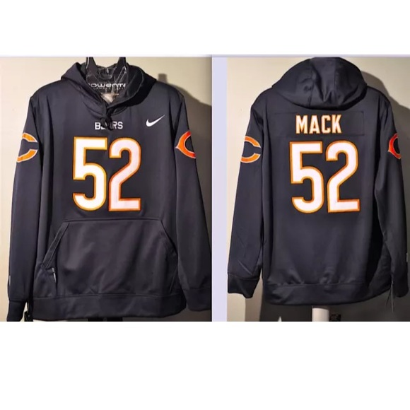 brand new 13f43 c04e2 Khalil Mack Bears Jersey embroidered hoodie NWT